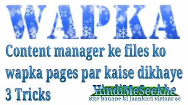 how-to-show-content-manager-files-in-wapka-pages