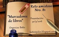 Reto Amistoso nº81 Marcadores de Libros