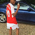 [Photo] Kanu Nwankwo's Son Flaunts His Father's Ferrari