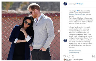 What an incredibly special surprise the grassroots led #globalsussexbabyshower was last Sunday!  The Duke and Duchess of Sussex are immensely grateful for the outpouring of love and support in anticipation of the birth of their first child.  In lieu of sending gifts, the couple have long planned to encourage members of the public to make donations to select charities for children and parents in need. If you already made a donation, the couple send you their greatest thanks. If you are thinking about it, they ask that you kindly consider the following organisations they've selected, which we will highlight here over the next few days:  @thelunchboxfund @littlevillagehq @wellchild @baby2baby  The Duke and Duchess remain appreciative for your warm wishes and kindness during this especially happy time in their lives! Thank you for sharing the love ❤️