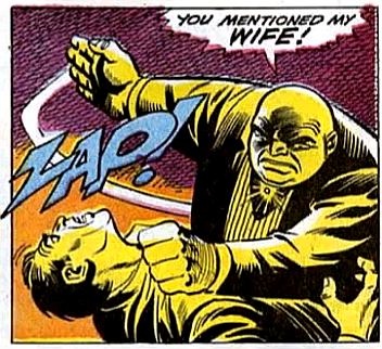 Amazing Spider-Man #69, john romita, Jim mooney, the kingpin hits one of his goons when he mentions the kingpin's mysterious wife