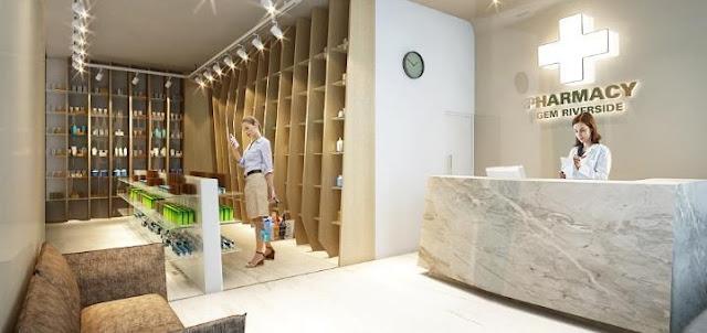 Cửa hàng thuốc tây ngay bên trong Block dự án