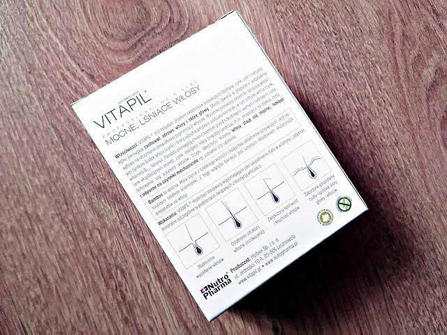 Vitapil, biotyna + bambus - mocne, lśniące włosy, tył opakowania