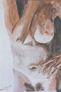 torso femenino, pintor Jorge A. Marín