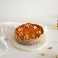 Cheesecake gelado de abóbora e noz