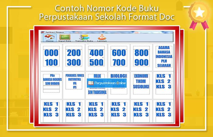 Contoh Nomor Kode Buku Perpustakaan Sekolah Format Doc