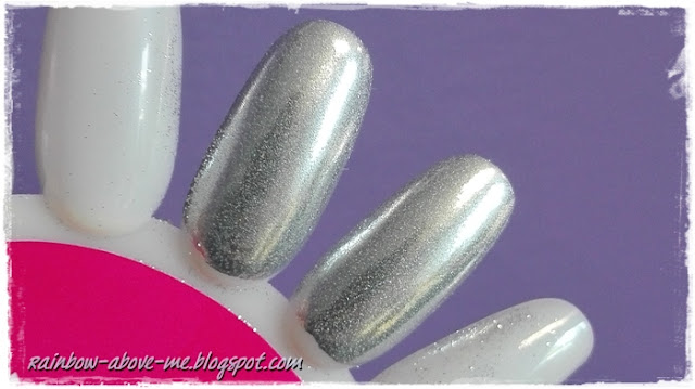 efekt metalu folii na paznokciach