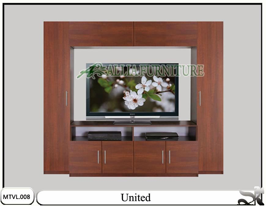 Lemari tv lcd model minimalis united