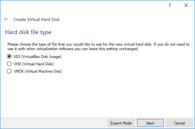 Hard drive file type setup.