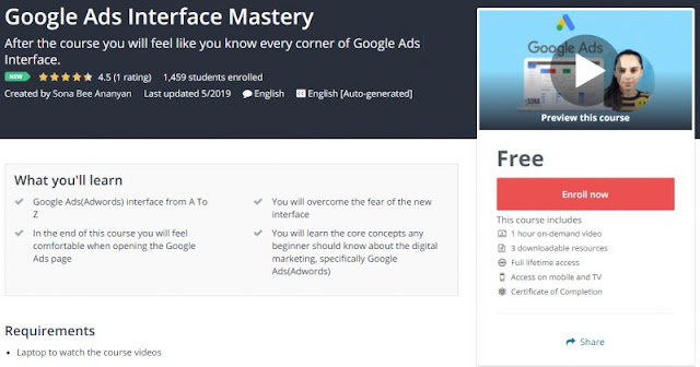 [100% Free] Google Ads Interface Mastery