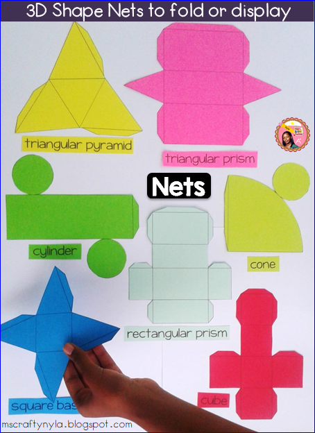 Nyla 39 S Crafty Teaching 3d Shapes