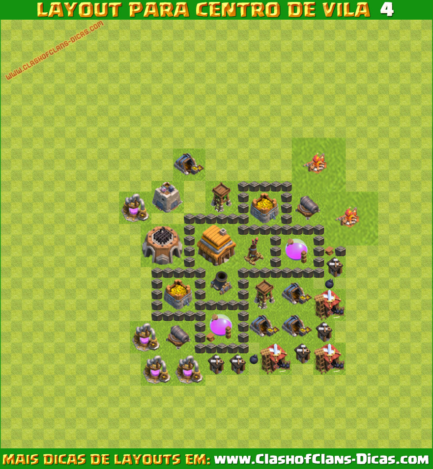 clanch of clans - Layout Cv 4 Clash Of Clans