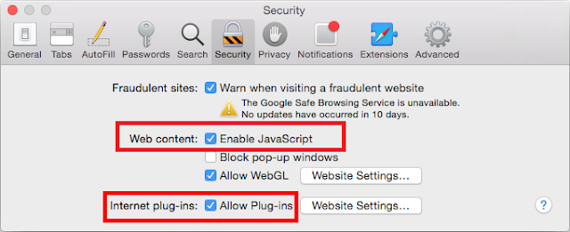 Allow Safari Plugin- Reinstall Safari