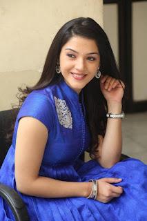 Mehreen Pictures in Blue Dress at Krishna Gadi Veera Prema Gaadha Interview ~ Celebs Next
