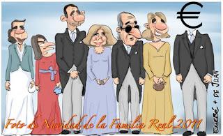 Viñeta de humor de la Familia Real Española con Urdangarín