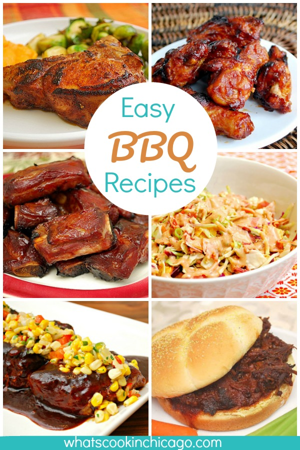 photo collage of easy BBQ recipes