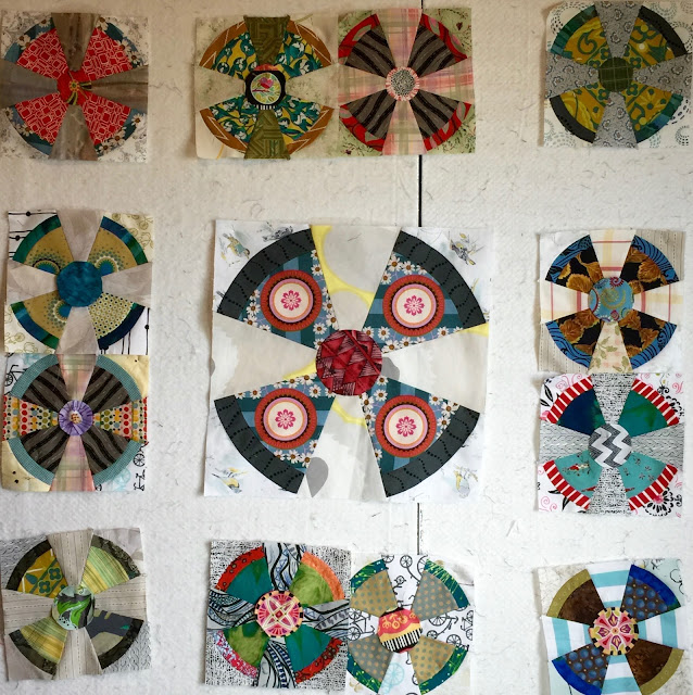 Propeller quilt block layout