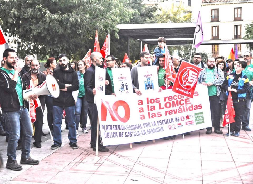 Concentración celebrada en Cuenca