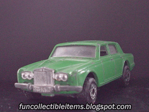 Green Rolls Royce Silver Shadow toy car vehicle