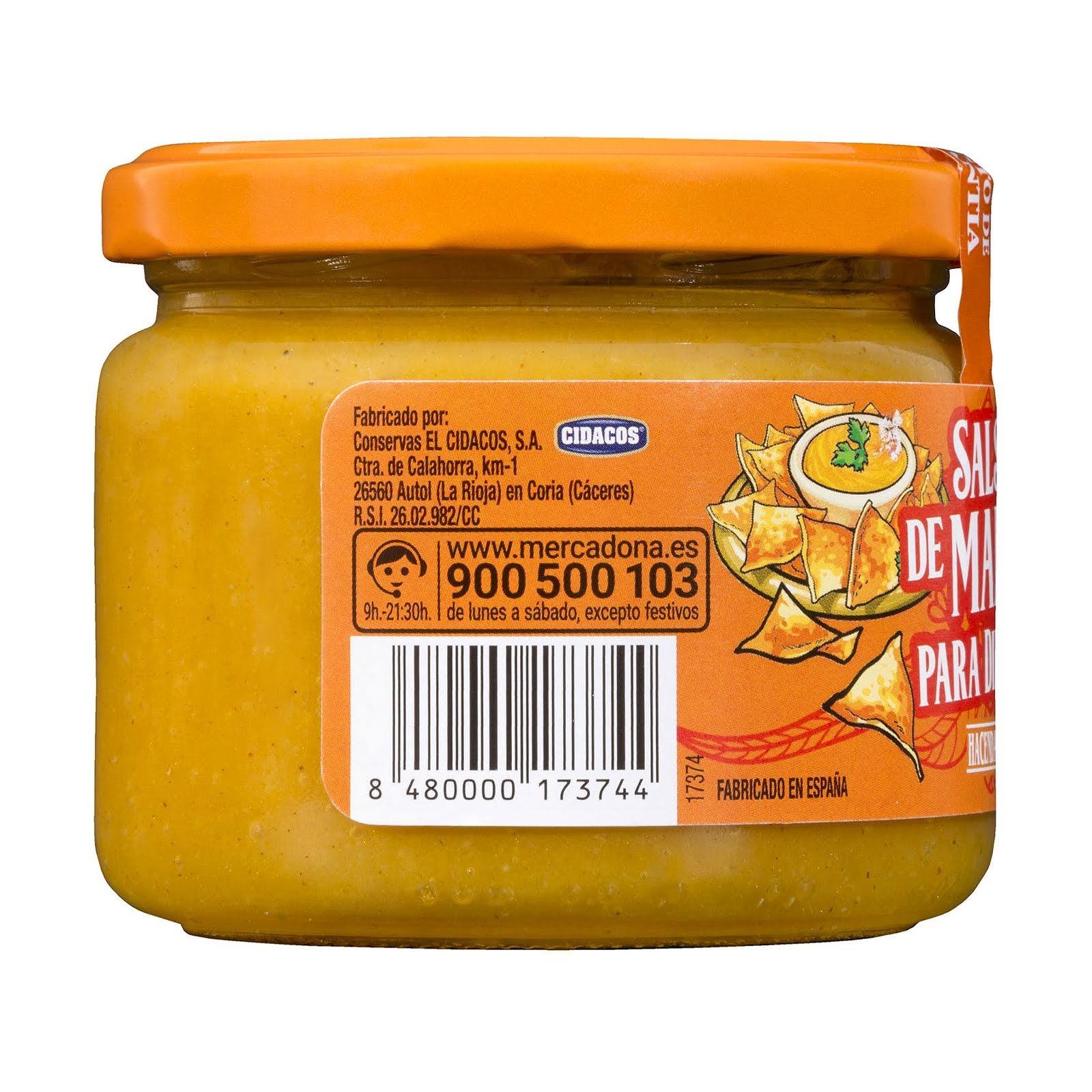 Salsa de mango para dipear Hacendado