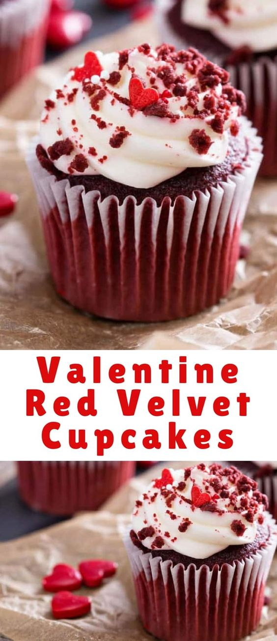 Valentine Red Velvet Cupcakes Recipe