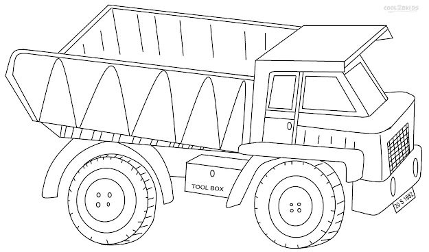 To Print Dump Truck Coloring Pages  On Free Coloring Kids With Dump Truck  Coloring Pages