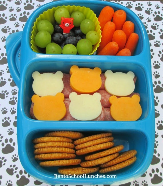 DIY lunchables, bear themed in Goodbyn Bynto