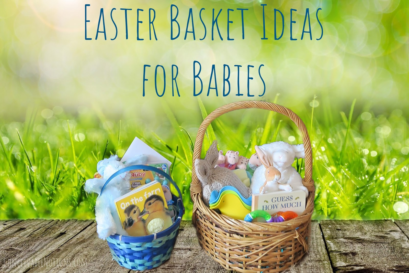 Conceivable notions our ttc journey easter basket ideas for a baby easter basket ideas for a baby negle Gallery