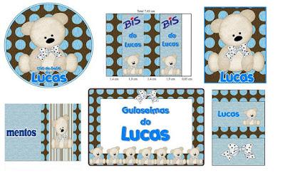 varios adesivos personalizados de ursos