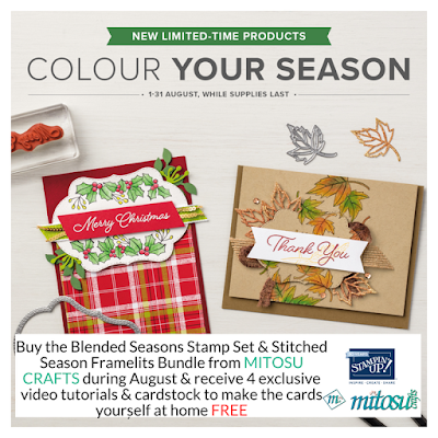 Stampin' Up! Colour Your Season. Order Blended Seasons Bundle from Mitosu Crafts UK Online Shop