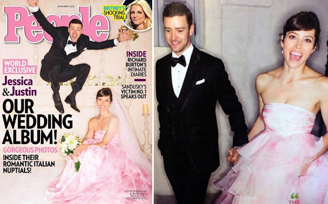 justin jumping hysterically, bride looking pretty