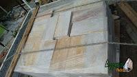 Pedra São Tomé serrada branca - 15x30 - R$ 75,00 o m² Pedra São Tomé serrada mesclada - 15x30 - R$ 75,00 o m² Pedra São Tomé serrada amarela - 15x30 - R$ 75,00 o m²