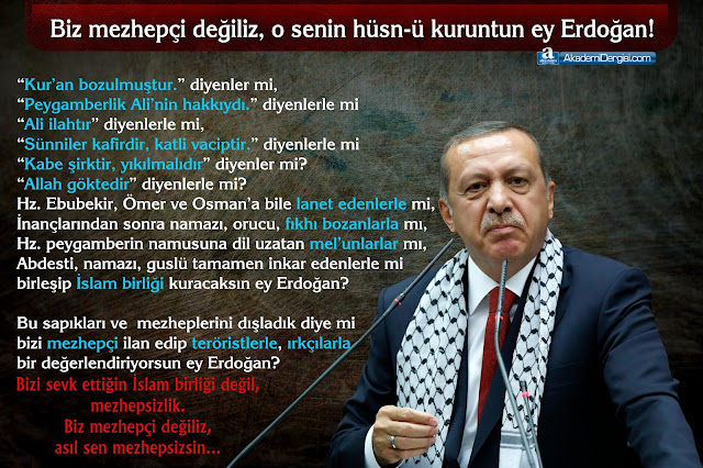 Recep Tayyip Erdoğan, Mezhepsizlik, sapık mezhepler, suudi amerika, katar, Projesi (BOP), İbn-i Teymiyye, evanjelistler, siyonizm, mossad, Mehmet Fahri Sertkaya,