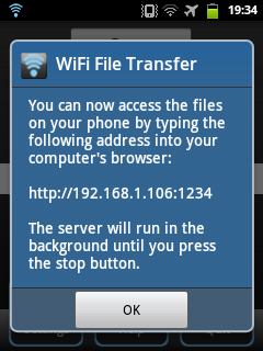 Cara Kirim File Android Ke PC Via Wifi File Transfer