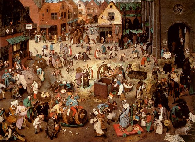 """Resultado de imagen de brueghel el viejo carnaval y cuaresma grupo de mendigos"""""""