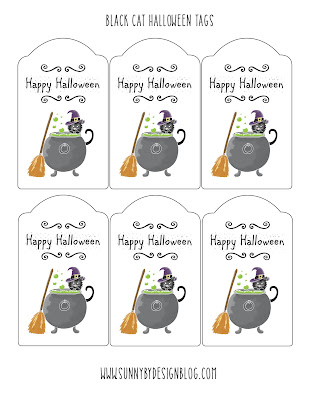 get your happy halloween tags here - Halloween Gift Tag
