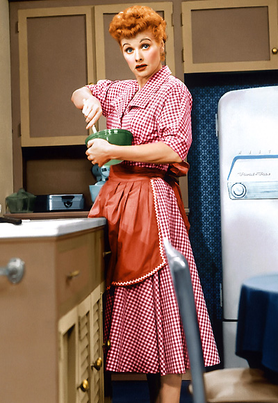 Lucille Ball cooking