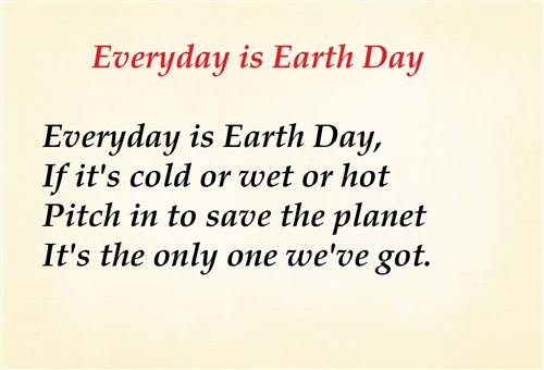 Free Earth Day Poems For Preschoolers