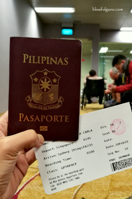 Singapore to Sydney via Singapore