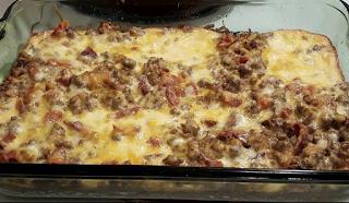Cheese burger bacon casserole