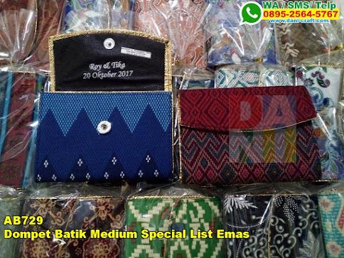 Jual Dompet Batik Medium Special List Emas