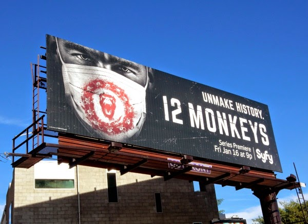 12 Monkeys series launch billboard