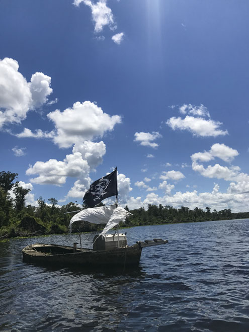 Pirate ship on the St Johns River