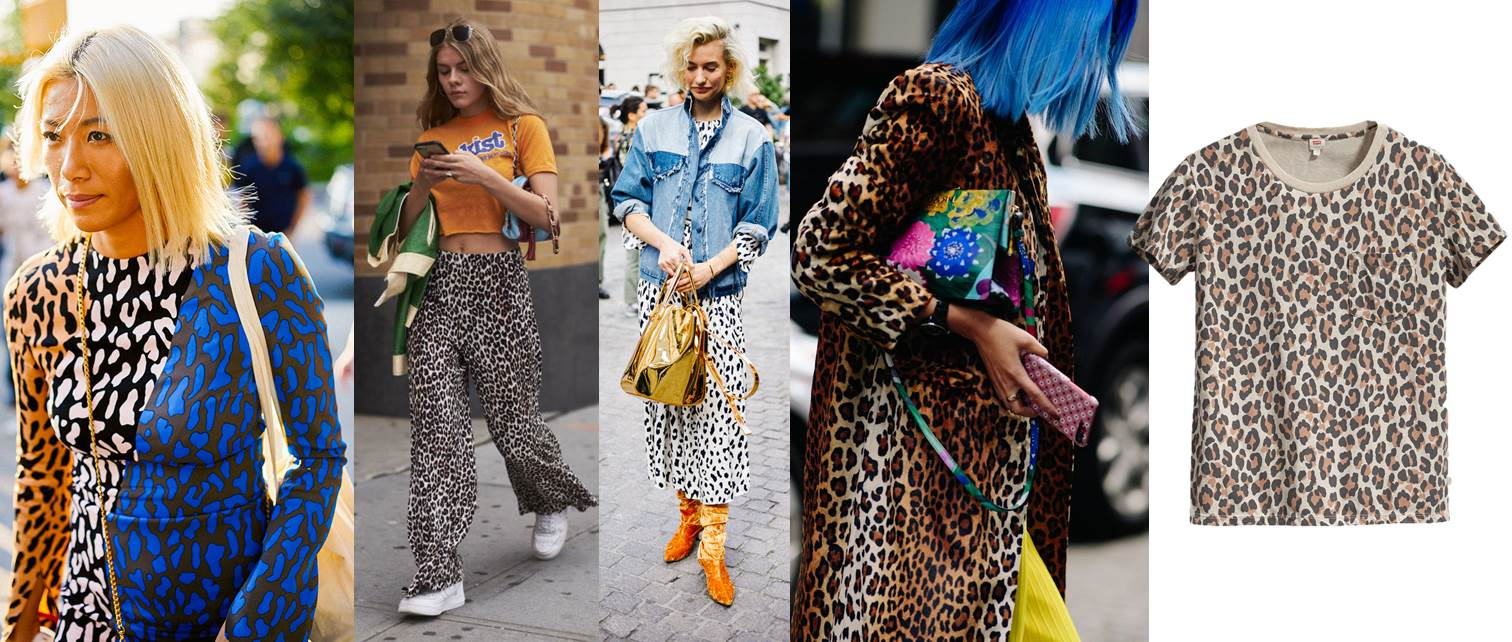 new york fashion week ss18 street style animal print