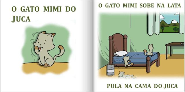 O gato Mimi do Juca | livro infantil Minha Primeira Leitura