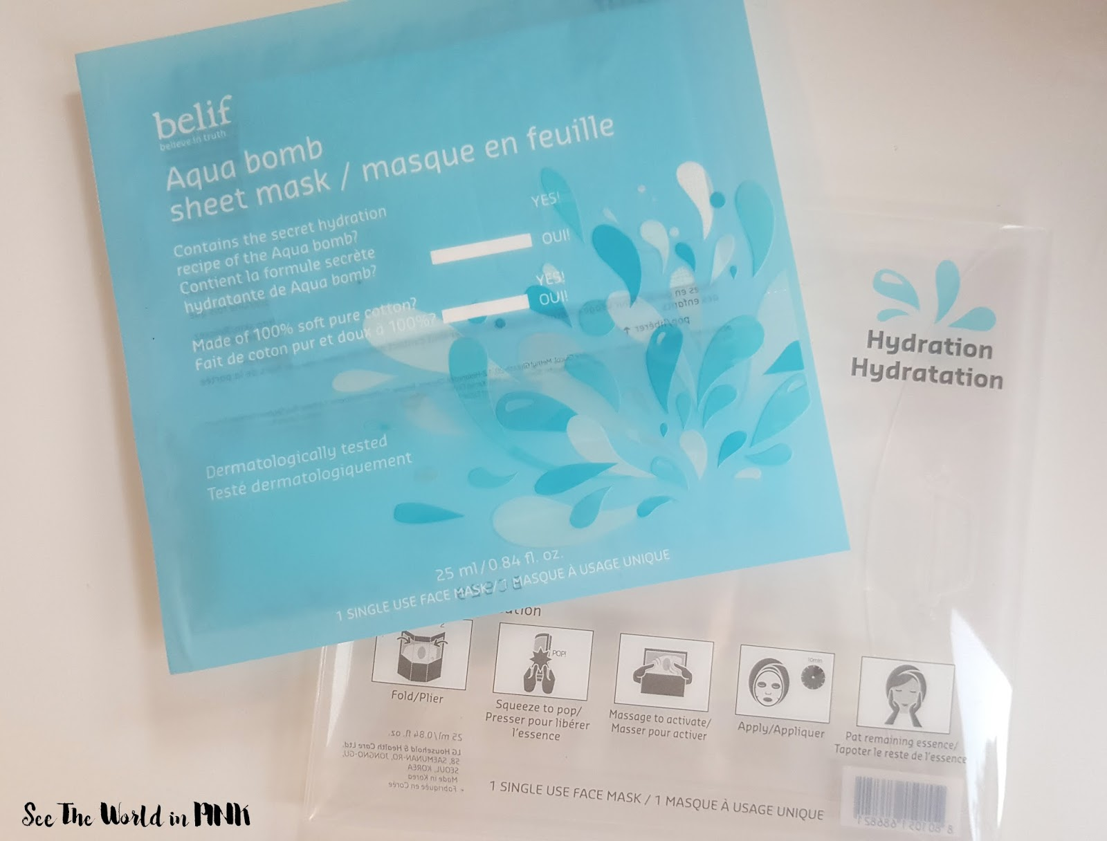 Mask Wednesday - Belif Aqua Bomb Sheet Mask!
