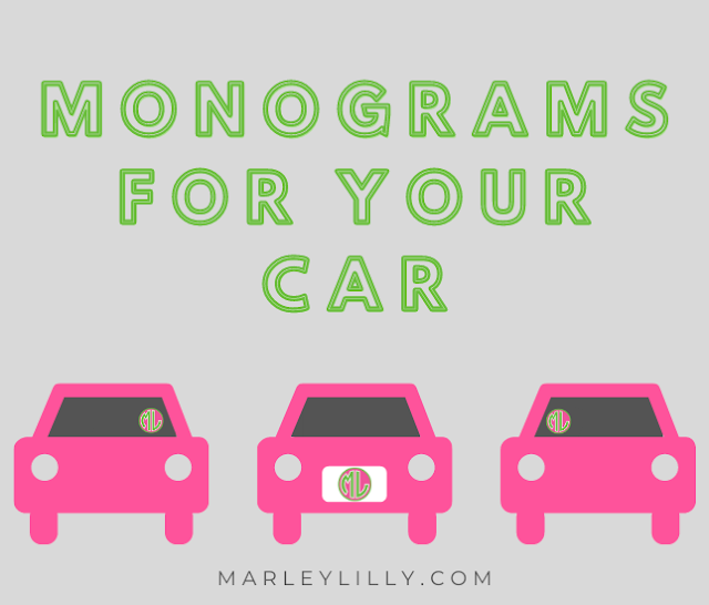 Whether your car is brand new or you've taken it on countless road trips, adding little pops of personality make it even more yours! We've gathered some of our favorite monograms that will give your car all the personality it needs!