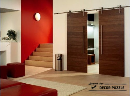 Interior sliding barn door designs uses styles and hardware for Residential sliding doors