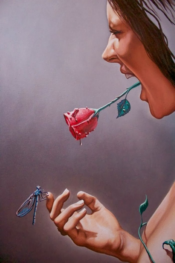 The Dragonfly and the rose. Eduardo Urbano Merino 7