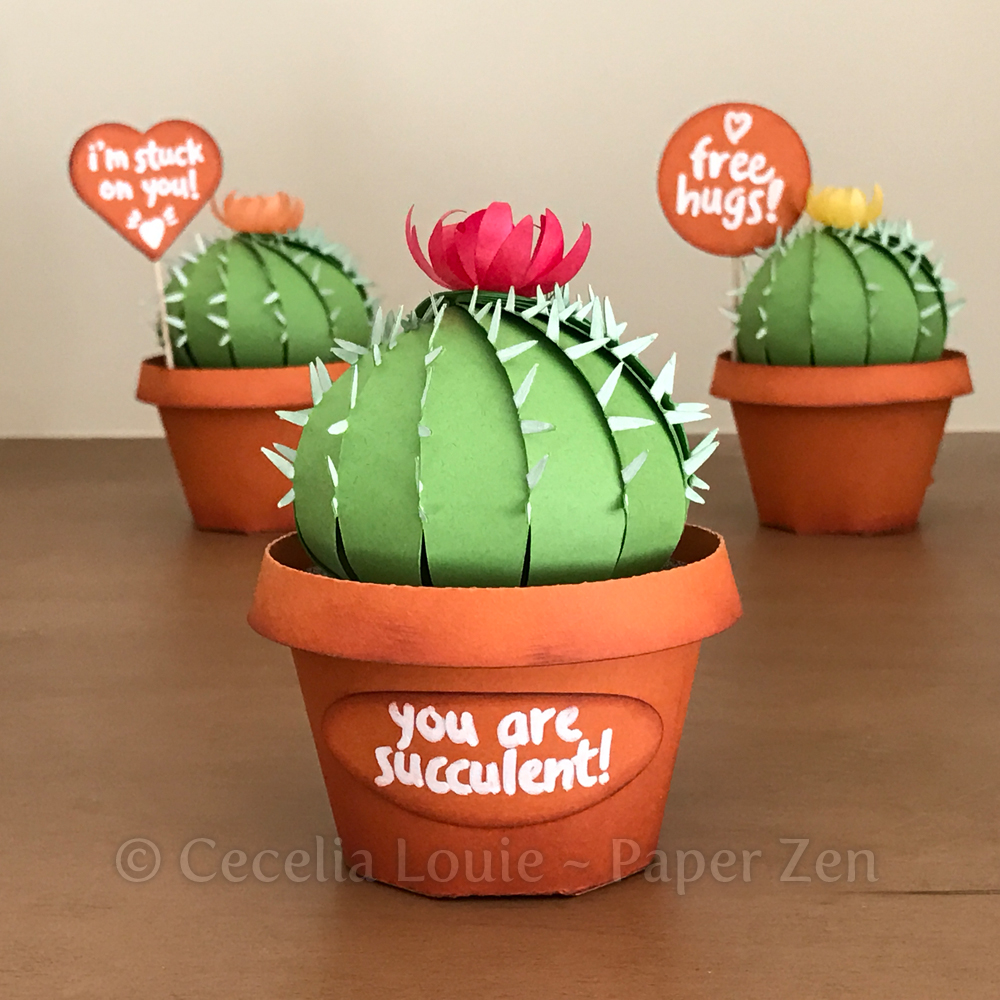 welcome to paper zen cecelia louie paper cactus and pot party